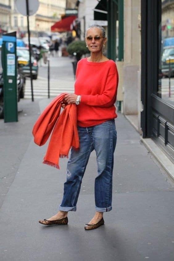 "Oui au jean ""mom"""